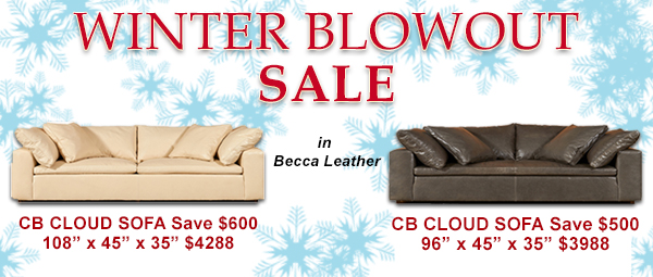CB Sofa Winter Blowout Sale