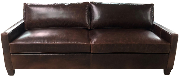 Madison Slim-Arm Leather Sofa
