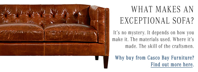 What Makes an exceptional sofa? Find out more about the quality built into Casco By Furniture.