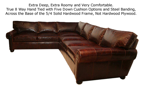 Manchester Leather Sectional