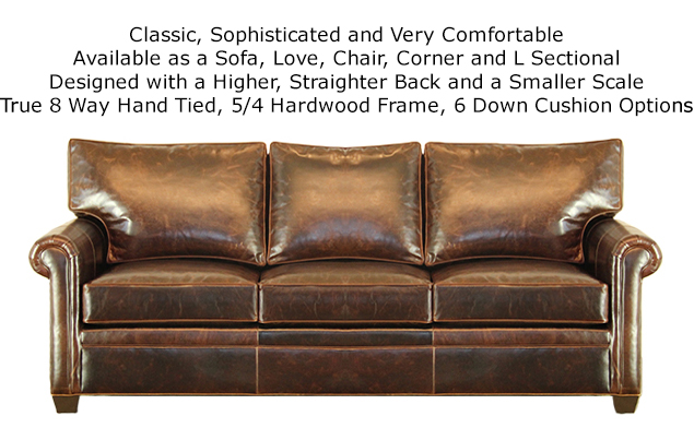 Preston Sofa Upholstered in Echo Cigar