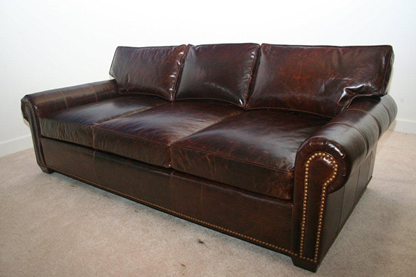 Manchester Sofa with large French Natural Trim