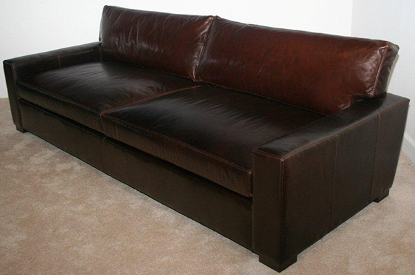 Madison sofa in Special Order Leather Mont Blanc Truffle 108