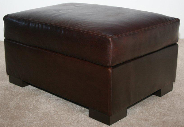 Madison Ottoman photographed in Brompton Cocoa