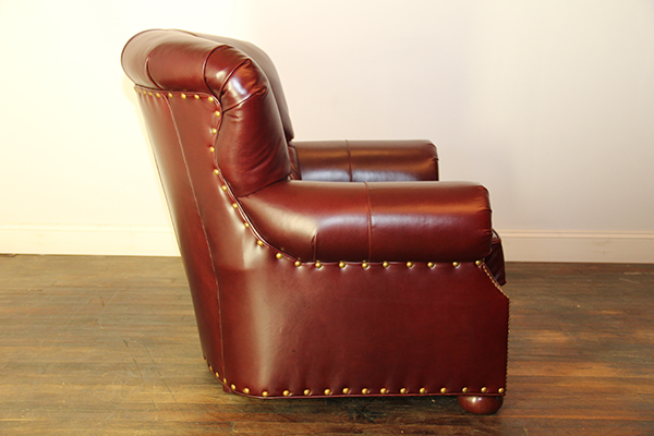 Side View of Tufted Fan back chair