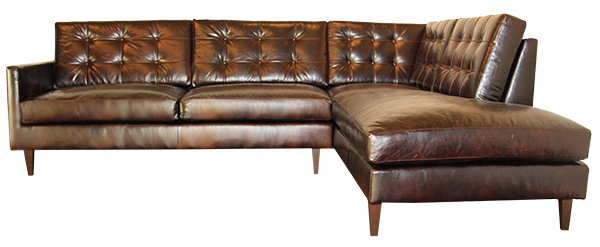 Fresco Leather Sectional