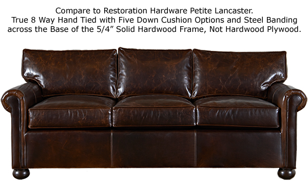 free white glove delivery free damage protection Petite Manchester Leather Furniture