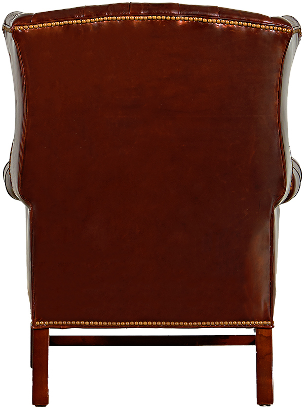 Tufted Chippendale Wing Chair
