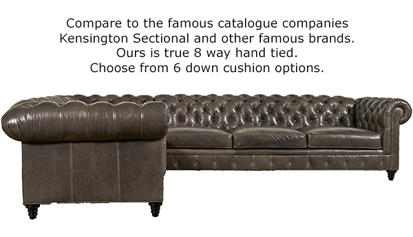 Kingsbridge Leather Sectional